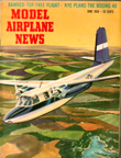 Model Airplane News Cover for June, 1956 by Jo Kotula Aero Commander L-26 Mini Air Force One