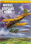 Model Airplane News Cover for June, 1958 by Jo Kotula Curtiss Sparrowhawk (and the Dirigible USS Macon)