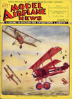 Model Airplane News Cover for March, 1932 by Jo Kotula Fokker Dr. I Dreidecker (Triplane)