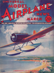 Model Airplane News Cover for March, 1934 by Jo Kotula Charles Lindberghs Lockheed Sirius