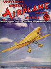 Model Airplane News Cover for March, 1935 by Jo Kotula Brown B-2 Miss Los Angeles
