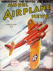 Model Airplane News Cover for March, 1938 by Jo Kotula Bell YFM-1 Airacuda