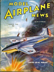 Model Airplane News Cover for March, 1940 by Jo Kotula Curtiss XP-42