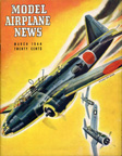Model Airplane News Cover for March, 1944 by Jo Kotula Mitsubishi OB-01 (G4M) Betty