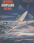 Model Airplane News Cover for March, 1945 by Jo Kotula Bell P-63 KingCobra