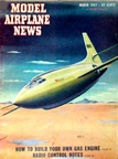 Model Airplane News Cover for March, 1947 by Jo Kotula Bell XS-1 (X-1)
