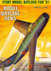 Model Airplane News Cover for March, 1951 by Jo Kotula Mikoyan-Gurevitch MiG 15