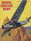 Model Airplane News Cover for March, 1954 by Jo Kotula Ford Tri-Motor Tin Goose