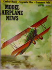 Model Airplane News Cover for March, 1956 by Jo Kotula Travel Air Model 2000 Biplane