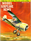 Model Airplane News Cover for March, 1958 by Jo Kotula Laird L-DW-300 Solution
