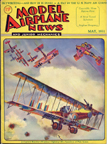 Model Airplane News Cover for May, 1931 by Jo Kotula Caproni Ca.3 and Pfalz D.III