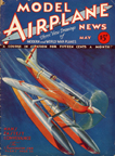 Model Airplane News Cover for May, 1932 by Jo Kotula Supermarine S6B Schneider Trophy Winner