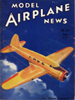Model Airplane News Cover for May, 1935 by Jo Kotula Vultee V-1A