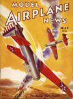 Model Airplane News Cover for May, 1936 by Jo Kotula Vultee V-11 Light Bomber