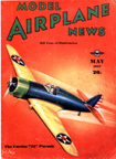 Model Airplane News Cover for May, 1937 by Jo Kotula Curtiss P-35 (Model 75) Hawk