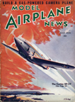Model Airplane News Cover for May, 1938 by Jo Kotula Curtiss XP-37