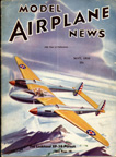 Model Airplane News Cover for May,  1939 by Jo Kotula Lockheed P-38 Lightning