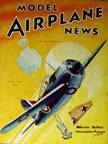 Model Airplane News Cover for May, 1941 by Jo Kotula Brewster F2A Buffalo
