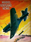 Model Airplane News Cover for May, 1943 by Jo Kotula Douglas SBD Dauntless