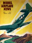 Model Airplane News Cover for May, 1944 by Jo Kotula North American P-51 Mustang