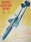 Model Airplane News Cover for May, 1945 by Jo Kotula Vultee XP54 Swoose Goose
