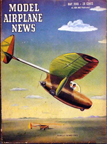 Model Airplane News Cover for May, 1946 by Jo Kotula Bowlus-Nelson Butterfly (Dragonfly)