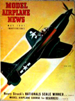 Model Airplane News Cover for May, 1947 by Jo Kotula Ryan FR-1 Fireball