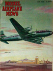Model Airplane News Cover for May, 1948 by Jo Kotula Douglas DC-4