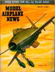 Model Airplane News Cover for May, 1951 by Jo Kotula Republic F84-f Thunderstreak