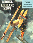 Model Airplane News Cover for May, 1954 by Jo Kotula SPAD S. XIII