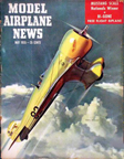 Model Airplane News Cover for Maay, 1955 by Jo Kotula Wedell-Williams No. 92 The Utican