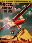 Model Airplane News Cover for May, 1956 by Jo Kotula Lockheed Vega