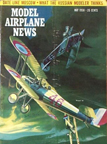 Model Airplane News Cover for May, 1958 by Jo Kotula Nieuport Model 28