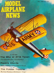 Model Airplane News Cover for May, 1960 by Jo Kotula Stearman (Boeing) PT-17 Trainer