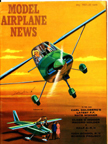 Model Airplane News Cover for May, 1961 by Jo Kotula Andreasson BA-7 aka Malm� Flygindustri MFI-9