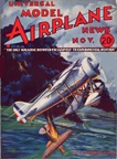 Model Airplane News Cover for November, 1933 by Jo Kotula Berliner-Joyce XFJ