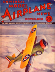 Model Airplane News Cover for November, 1934 by Jo Kotula Curtiss F11C Goshawk