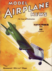 Model Airplane News Cover for November, 1935 by Jo Kotula Stearman-Hammond Y-1 Flivver