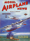 Model Airplane News Cover for November, 1937 by Jo Kotula Sikorsky VS-44 (XPBS-1) Flying Dreadnought
