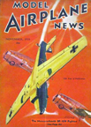 Model Airplane News Cover for November, 1938 by Jo Kotula Messerschmitt Bf-109