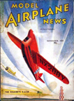 Model Airplane News Cover for November, 1939 by Jo Kotula Folkerts SK-3 Jupiter