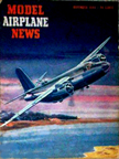 Model Airplane News Cover for November, 1944 by Jo Kotula Martin B-26 Marauder