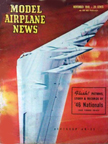 Model Airplane News Cover for November, 1946 by Jo Kotula Northrop XB-35 Flying Wing