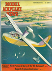 Model Airplane News Cover for November, 1947 by Jo Kotula Goodyear GA-2 Duck