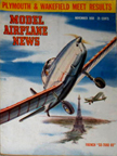 Model Airplane News Cover for November, 1950 by Jo Kotula French S.N.C.A.  S.O.-7060-65 Deauville
