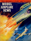 Model Airplane News Cover for November, 1952 by Jo Kotula Lockheed F-94 Starfire
