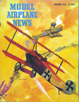 Model Airplane News Cover for November, 1953 by Jo Kotula Fokker Dr. I Dreidecker (Triplane)