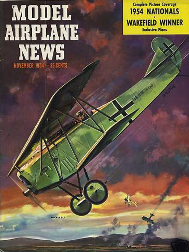 MODEL AIRPLANE NEWS NOV 53 TRAVELAIR NIETO / F4U AERONAVALE / RED BARON Dr.I WWI