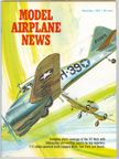 Model Airplane News Cover for November, 1967 by Jo Kotula Curtiss AT-9 Jeep