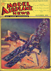 Model Airplane News Cover for October, 1931 by Jo Kotula Friedrichshafen G.III Bomber